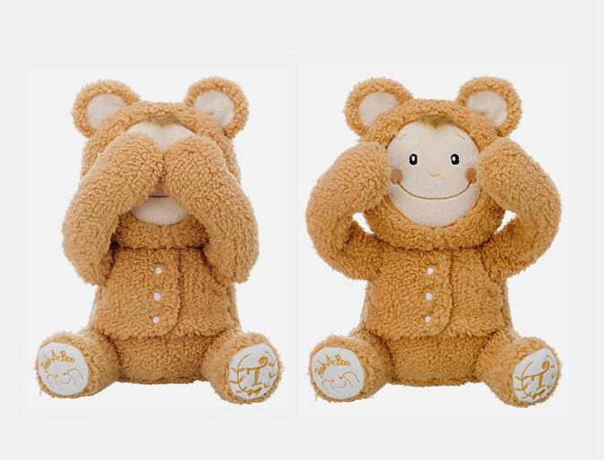 Игрушка-повторюшка Медвежонок, играет в  Ку-ку , закрывает глазки, смеется, арт.01732