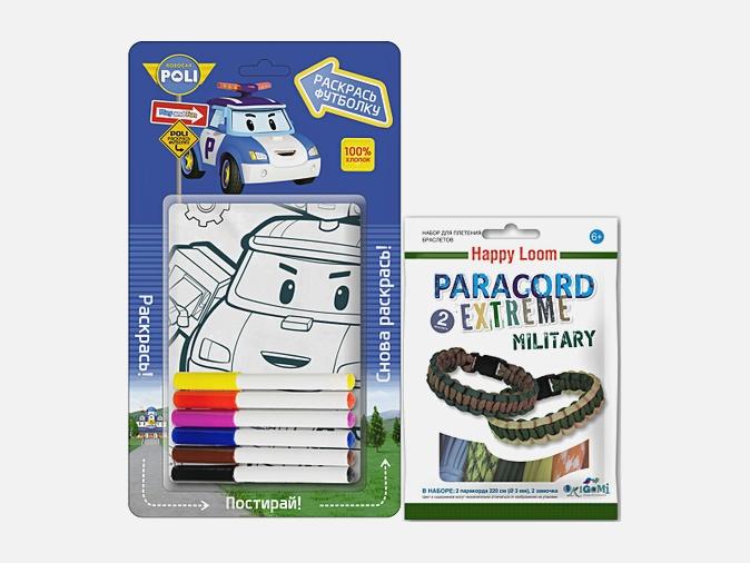 Робокар Поли. Футболка д/раскраш. рост 104-116см + Paracord Extreme. Military. ПРОМО