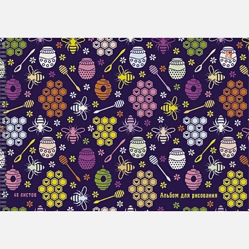 Разноцветные пчелки (орнамент)