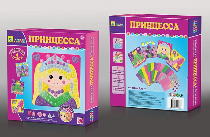Мозаика-набор для малышей. Принцесса (4 шт. ) арт. 05073