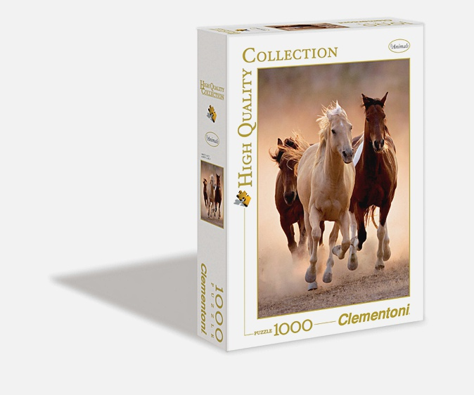 Пазл 1000 эл. Бегущие кони
