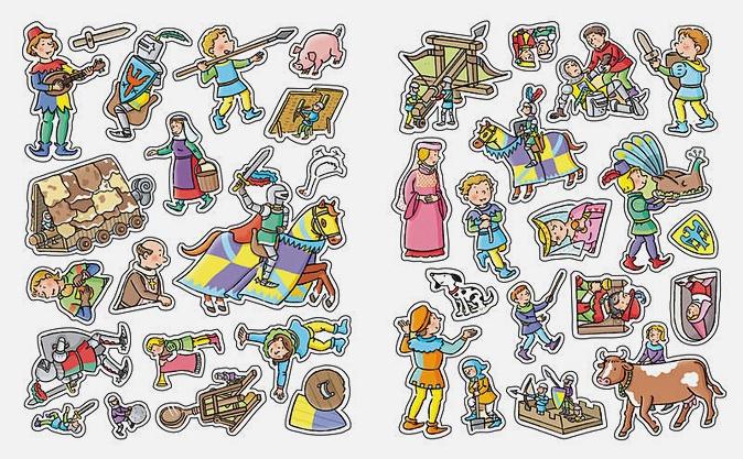 Рыцари (с наклейками)