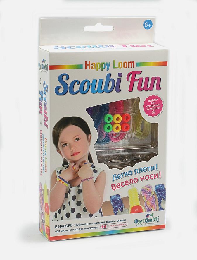 Стильные штучки. Scoubi Fun для начинающих. Набор в коробке: трубочки-нити, основы под броши и заколки, зам-ки, бусины, инструкция  арт. 02038