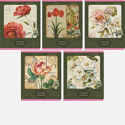 Цветы (Vintage garden) 96л., 5 видов