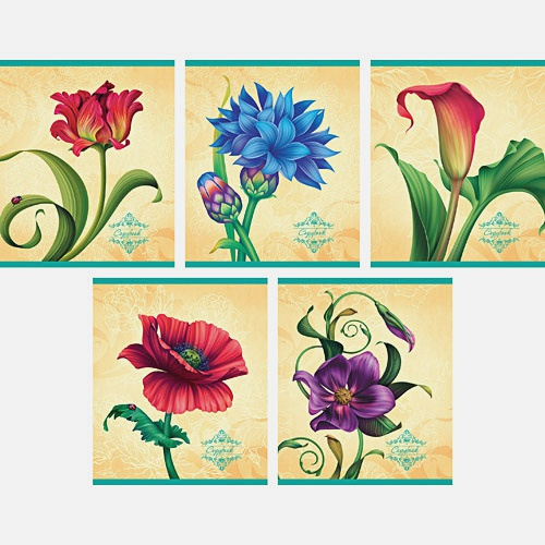 Элегантные цветы 48л., 5 видов