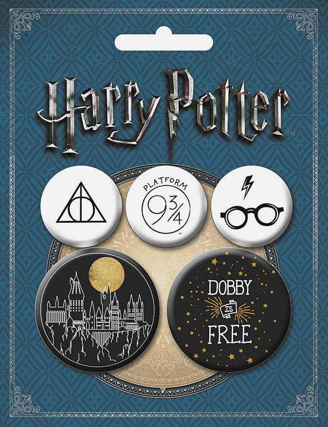 Набор значков. Гарри Поттер (5 шт.) (оф.2)
