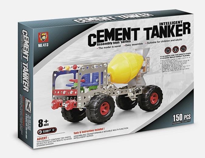 Конструктор метал.  : Я конструктор. Цементовоз, (150 дет. ) арт.  02284