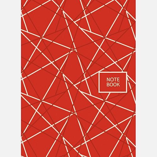 Офисный стиль. Геометрия (красный) (А6, 64 л.)