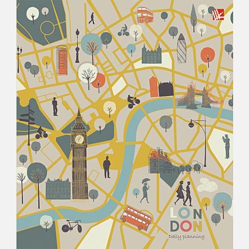 Графика. Карта Лондона 128л. А5