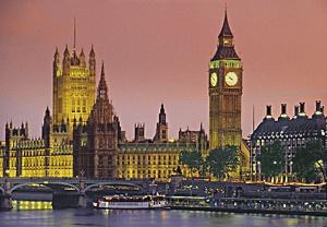 Пазл 500 эл. Лондон. Вид на Вестминстерский дворец