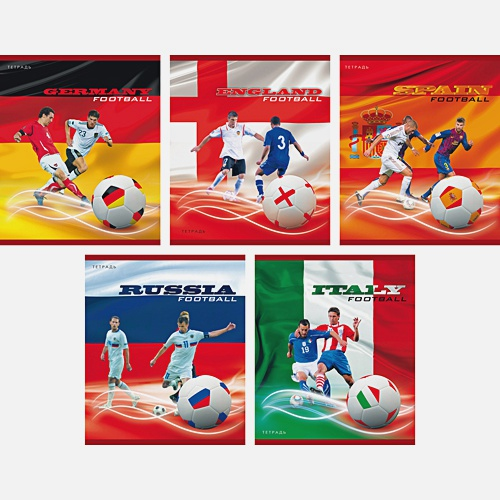 Мировой футбол 40л.,5 видов