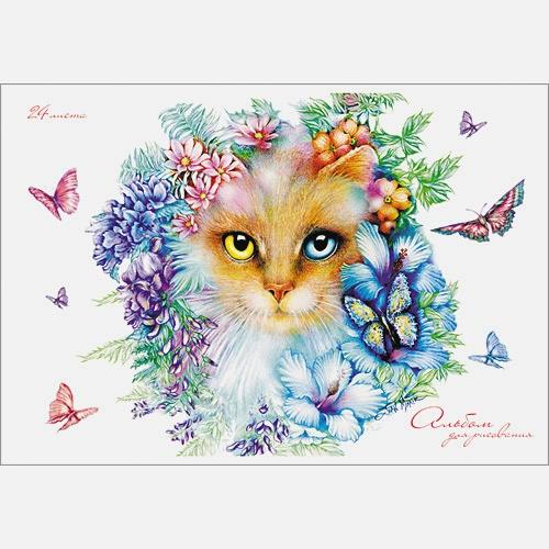 """""""Misterious cats"""". Кошка в цветах. ЛИЦЕНЗИЯ"""