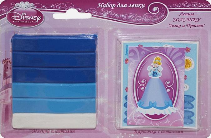 """Disney Принцессы - Н-р д/леп""""ЗОЛУШКА"""",мяг пласт.(60г),карт.с дет.,Дис обложка книги"""