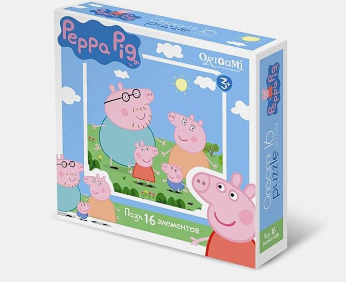 Свинка Пеппа.Пазл. 16Эл.Свинки.01576
