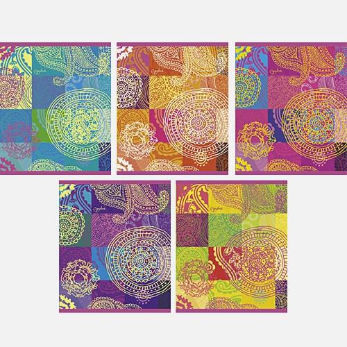 Яркие краски (орнамент) 48л., 5 видов