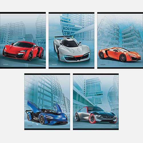 Современные автомобили 40л., 5 видов