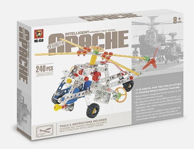 Конструктор метал.  : Я конструктор. Супер-вертолет, (240 дет. ) арт.  02787