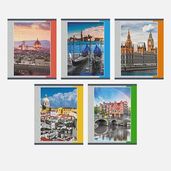 Тетрадь в клетку «Городская архитектура», А5, 40 листов