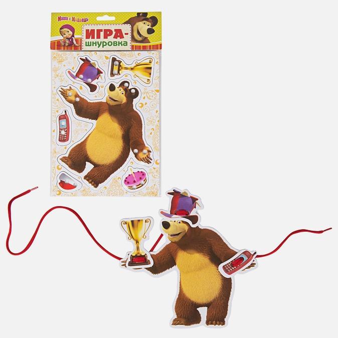 Настольная игра «Маша и Медведь. Шнуровка»