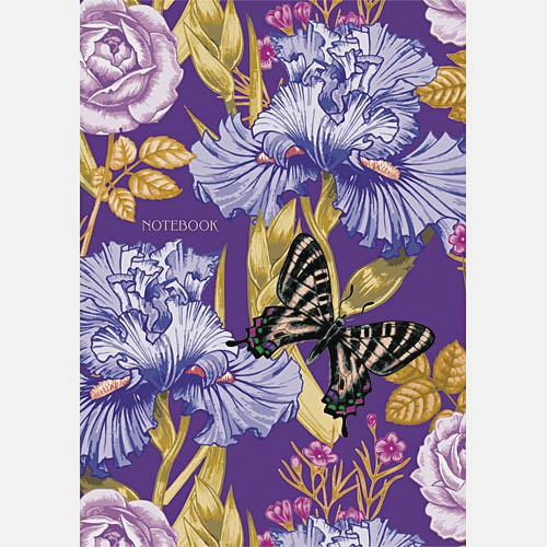 Цветы. Ирисы и бабочки