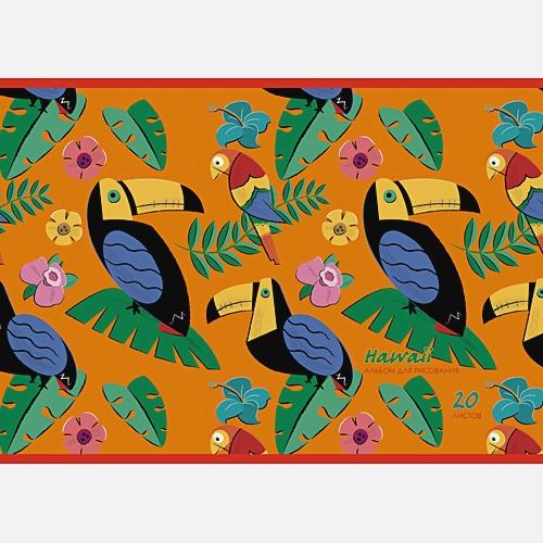 Гавайские птицы (графика) (скрепка, 20л.)