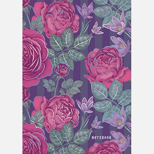 Орнамент. Чудесные цветы (А6, 96 л.)