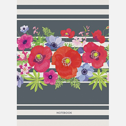 Графика. Великолепные цветы (А6, 64 л.)