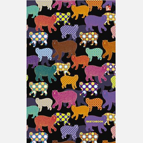 Разноцветные медведи (графика) 100л. (143х213 мм)
