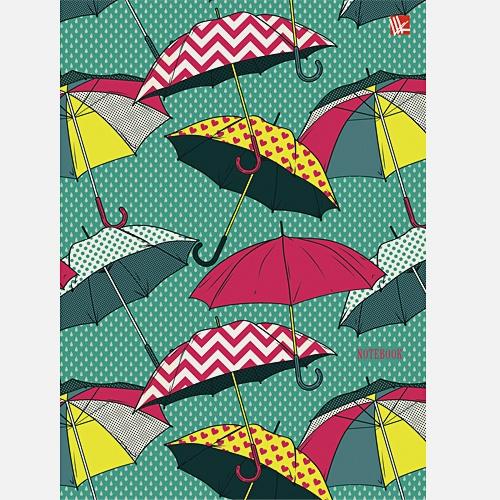 Орнамент Разноцветные зонтики  80л. (132х186 )