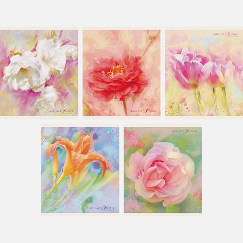 Очаровательные цветы 40л.,5 видов