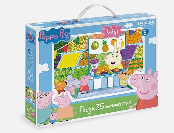 Свинка Пеппа.Пазл.35 гиг.Магазин фруктов.01547