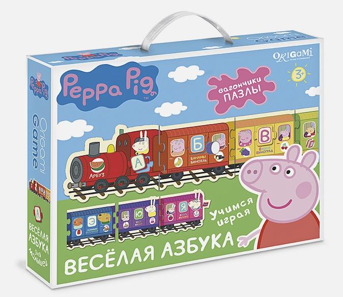 Настольная игра Паровозик Свинка Пеппа. Веселая азбука