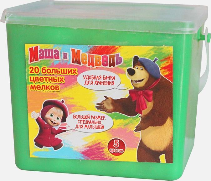 Маша и Медведь - Мелки для асф. в банке, (20 шт. 10х2,5см) т.м. МиМ обложка книги