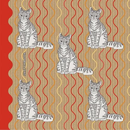 Полосатые кошки (графика)
