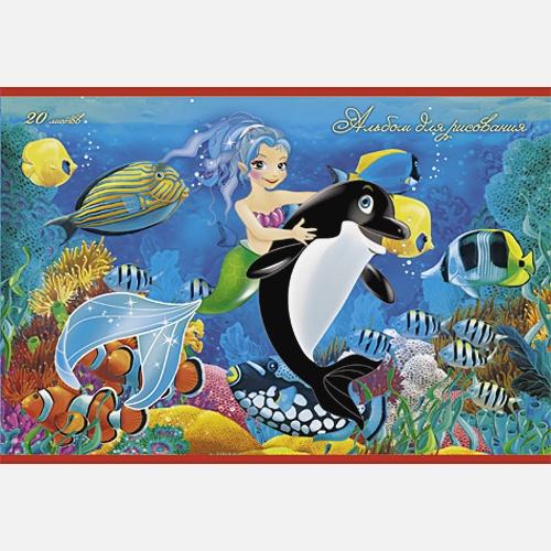 Русалочка и дельфин
