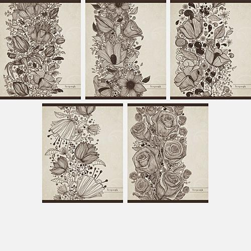 Цветочный стиль (Элеганс) 96л., 5 видов