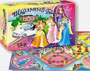 Настольная игра для девочек. Подарочная. Школьный бал