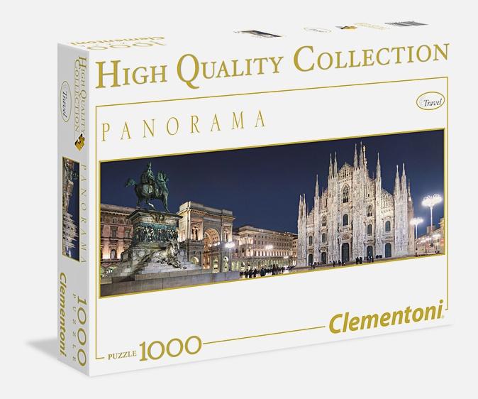 Пазл панорамный 1000 эл. Милан. Вид на Соборную площадь