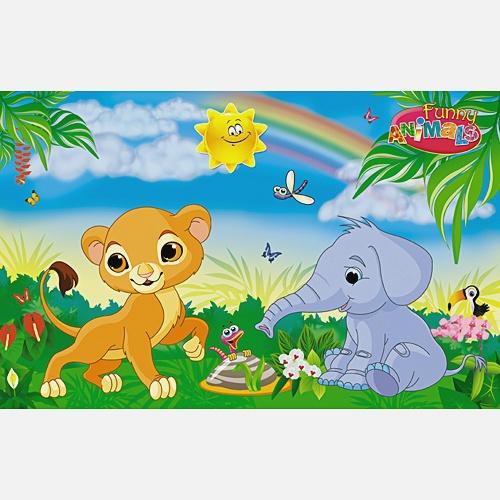 Волшебный мир. Львенок и слоненок
