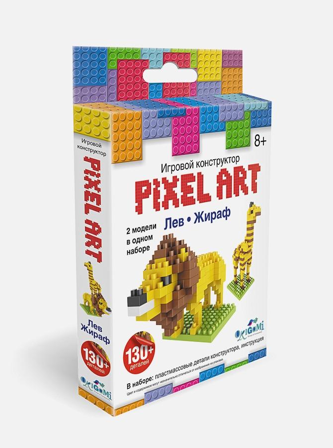 нн - Конструктор 3D-пиксели 2 в 1. Лев/Жираф  арт.02306 обложка книги
