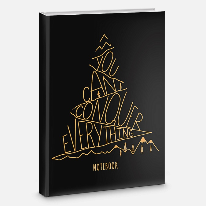 Книга для записей «Типографика», А5, 80 листов