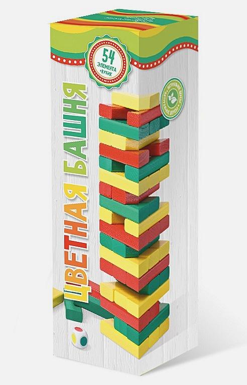 Наст.игр.:НИ.Башня цветная арт.7794 (с кубиком) /15