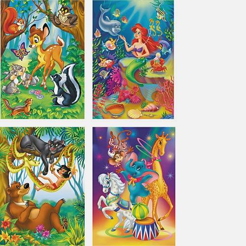 Мультфильмы 2 ( Русалочка и дельфин,Маугли и Балу,Слоненок в цирке,Бемби и лесные друзья)