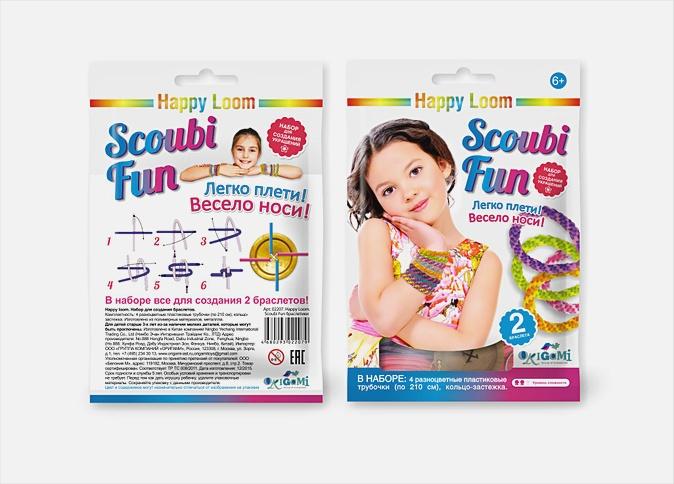 Набор для плетения браслетов во флоупаке. Стильные штучки. Scoubi Fun №2