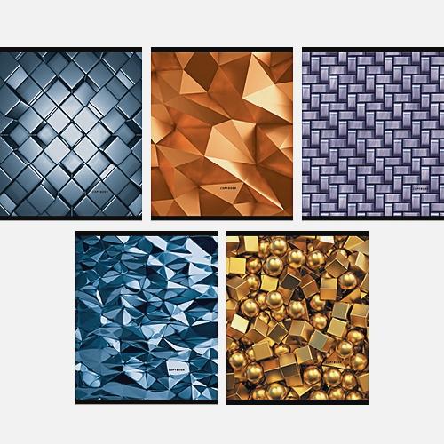 Металлический блеск (орнаменты) 96л., 5 видов