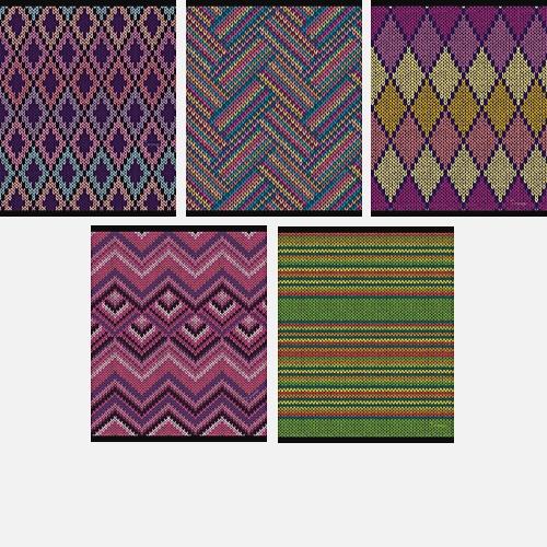 Цветной орнамент 48л., 5 видов