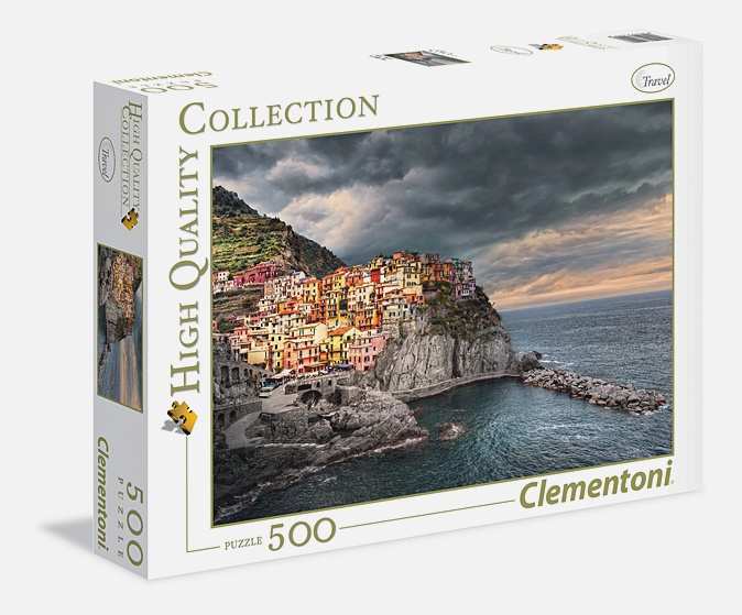 Пазл 500 эл. Манарола, Италия. Красочный город на скале