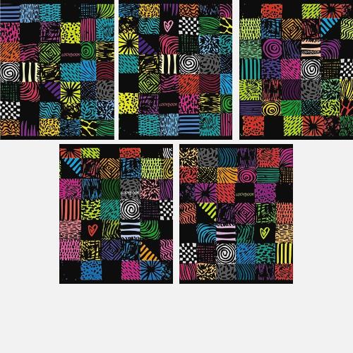 Яркие краски (орнамент) 80л,.5 видов