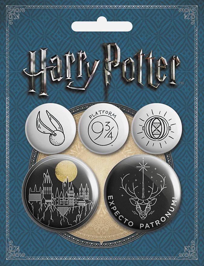 Набор значков. Гарри Поттер (5 шт.) (оф.3)
