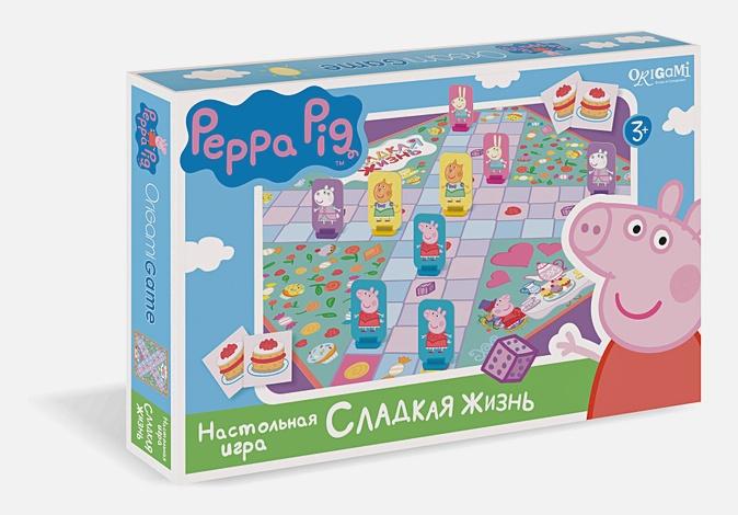 Свинка Пеппа.Наст.игра.кр-дно.Сладкая жизнь.01591